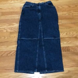 Jones New York Country Long Jean Skirt